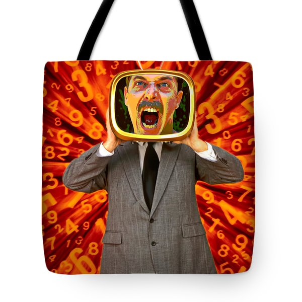 Tv Man Tote Bag by Garry Gay