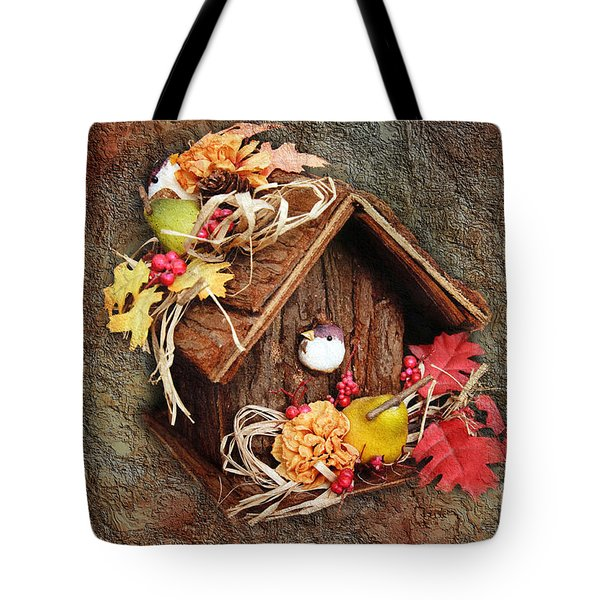 Tweet Little Bird House Tote Bag by Andee Design