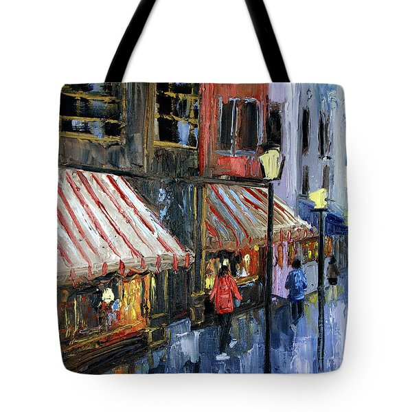 Twelve Street And Rine Tote Bag by Anthony Falbo