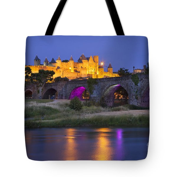 Twilight Over Carcassonne Tote Bag by Brian Jannsen