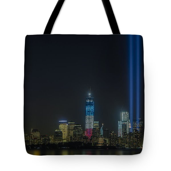 Twin Lights Tote Bag by Susan Candelario