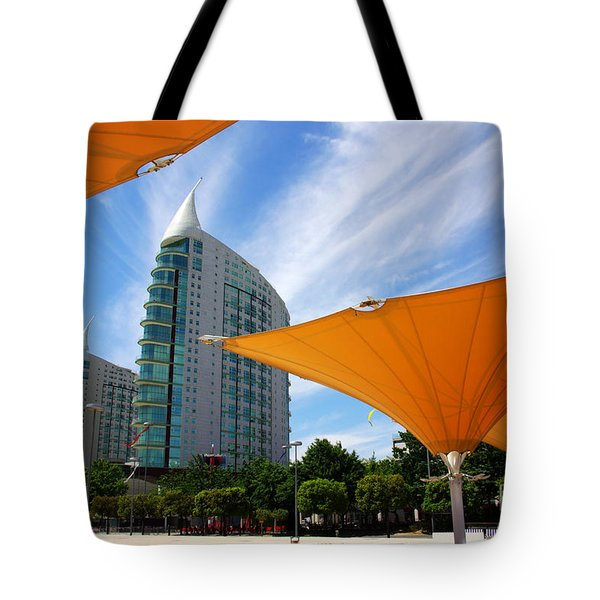 Twin Towers Tote Bag by Carlos Caetano