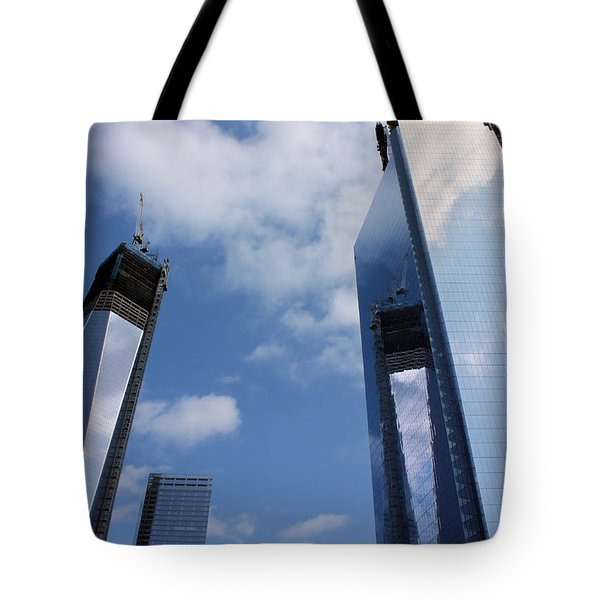 Twin Towers Tote Bag by Kristin Elmquist