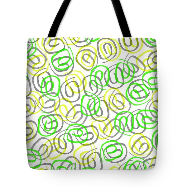 Twirls Tote Bag by Louisa Knight