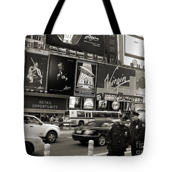 Two Cops On Broadway Tote Bag by RicardMN Photography