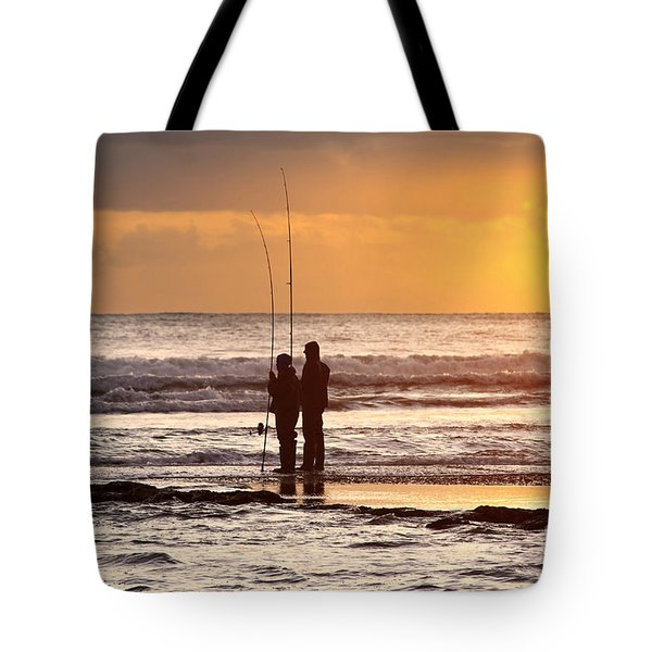 Two Fisherman Tote Bag by Carlos Caetano