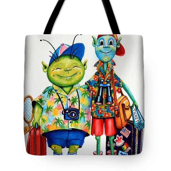 Two Tourists True Tote Bag by Hanne Lore Koehler