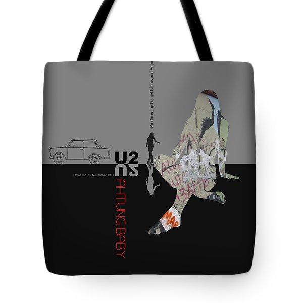 U2 Poster Tote Bag by Naxart Studio