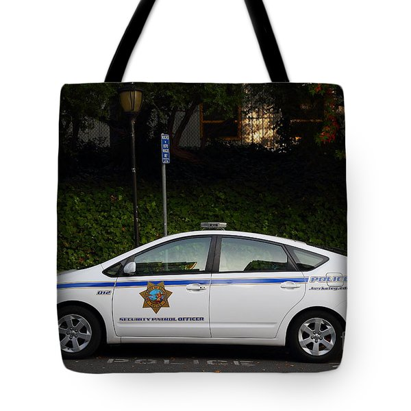 Uc Berkeley Campus Police Car  . 7d10181 Tote Bag by Wingsdomain Art and Photography