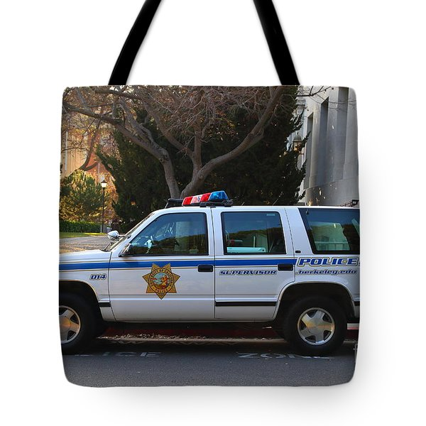 Uc Berkeley Campus Police Suv  . 7d10182 Tote Bag by Wingsdomain Art and Photography