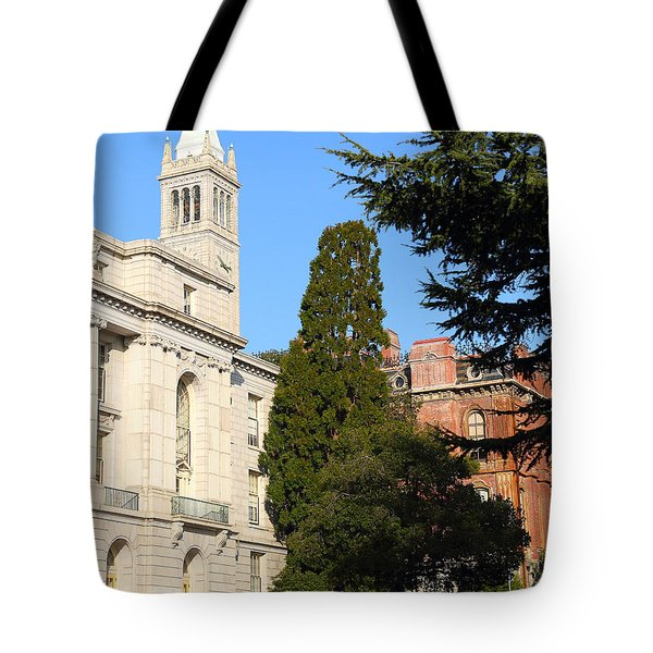UC Berkeley . Sather Tower Campanile . Wheeler Hall . South Hall Built 1873 . 7D10040 Tote Bag by Wingsdomain Art and Photography