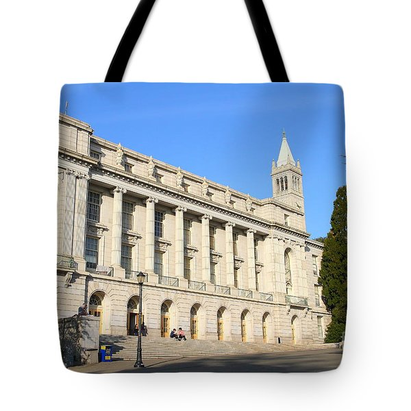 UC Berkeley . Sather Tower Campanile . Wheeler Hall . South Hall Built 1873 . 7D10043 Tote Bag by Wingsdomain Art and Photography