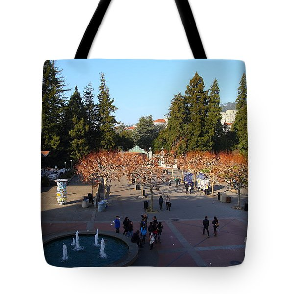 Uc Berkeley . Sproul Hall . Sproul Plaza . Sather Gate And Sather Tower Campanile . 7d10003 Tote Bag by Wingsdomain Art and Photography