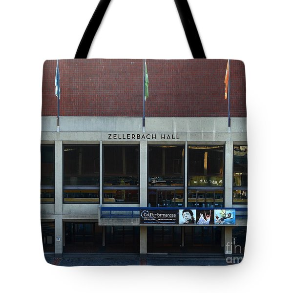 UC Berkeley . Zellerbach Hall . 7D10013 Tote Bag by Wingsdomain Art and Photography