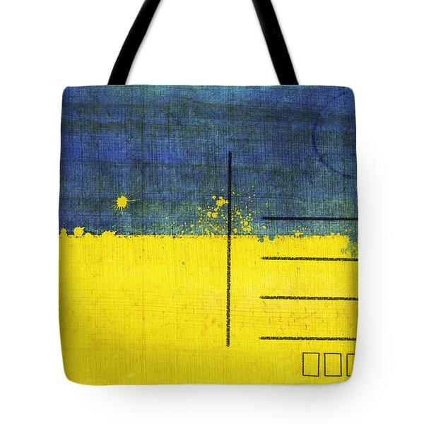 Ukraine flag postcard Tote Bag by Setsiri Silapasuwanchai