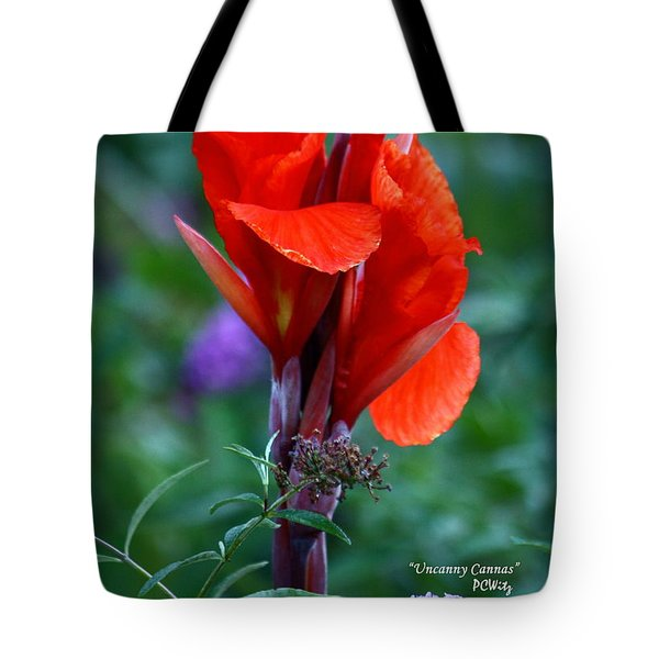 Uncanny Canna Tote Bag by Patrick Witz