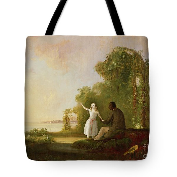 Uncle Tom And Little Eva Tote Bag by Robert Scott Duncanson