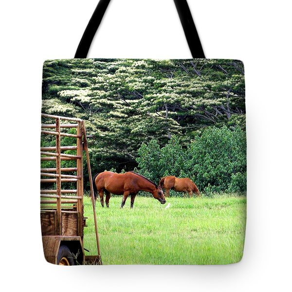 Under the Albesias Tote Bag by Mary Deal