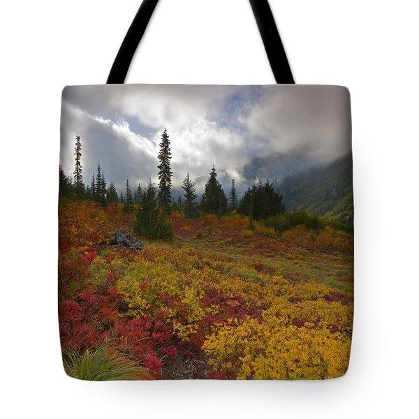 Unicorn Peak Tote Bag by Mike  Dawson