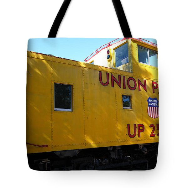 Union Pacific Caboose - 5d19205 Tote Bag by Wingsdomain Art and Photography