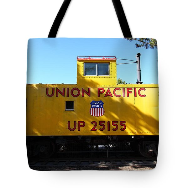 Union Pacific Caboose - 5D19206 Tote Bag by Wingsdomain Art and Photography