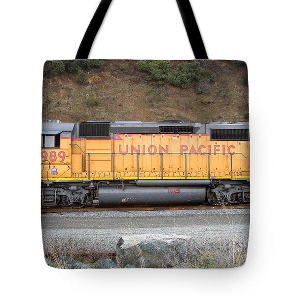 Union Pacific Locomotive . 7D10569 Tote Bag by Wingsdomain Art and Photography