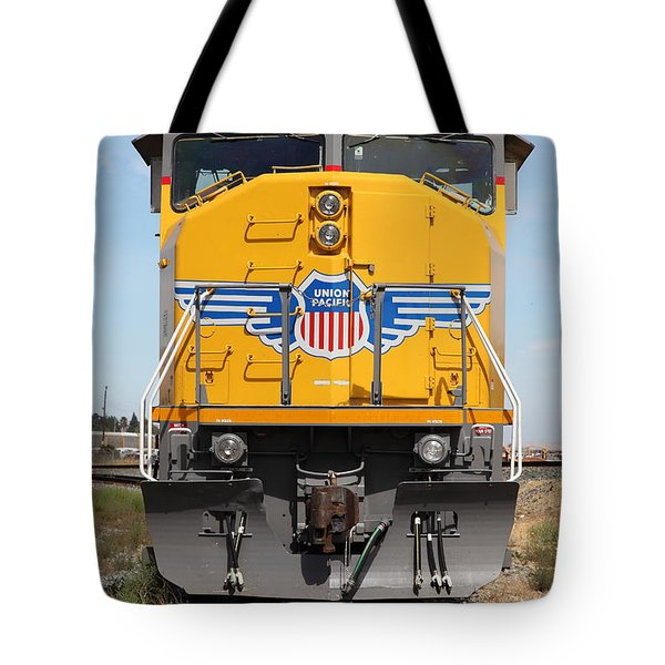 Union Pacific Locomotive Train - 5d18636 Tote Bag by Wingsdomain Art and Photography