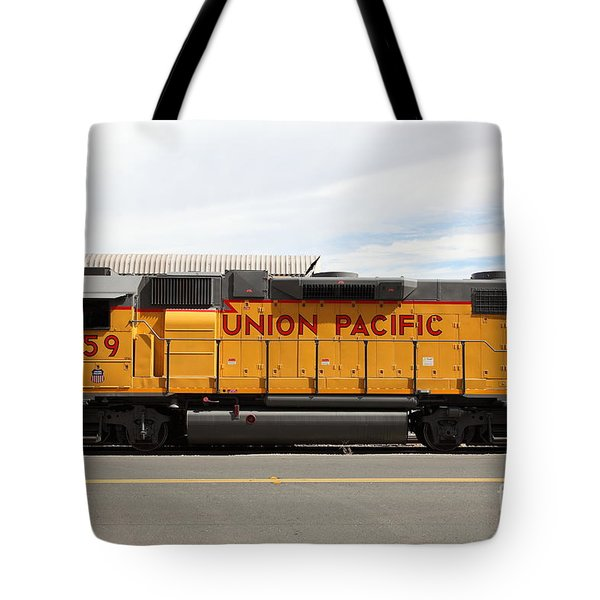 Union Pacific Locomotive Train - 5D18648 Tote Bag by Wingsdomain Art and Photography