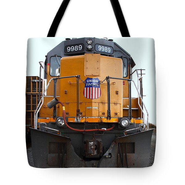 Union Pacific Locomotive Trains . 7D10589 Tote Bag by Wingsdomain Art and Photography