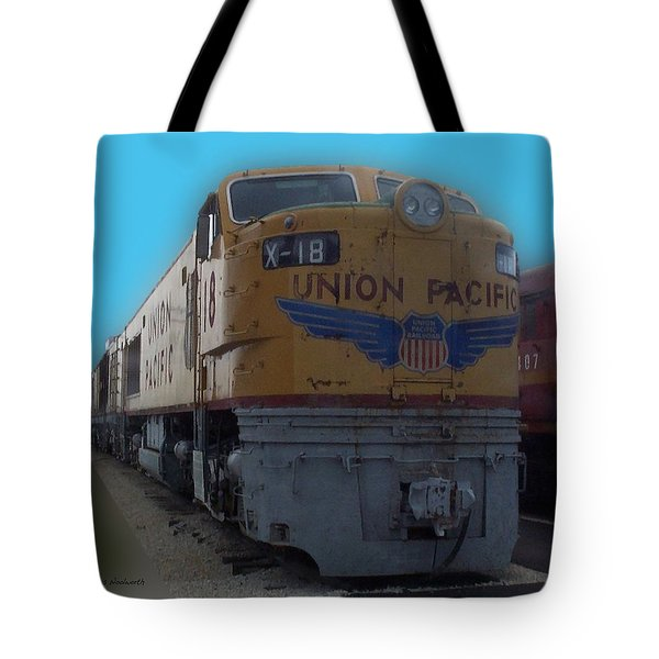 Union Pacific X 18 Train Tote Bag by Thomas Woolworth