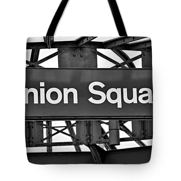 Union Square  Tote Bag by Susan Candelario