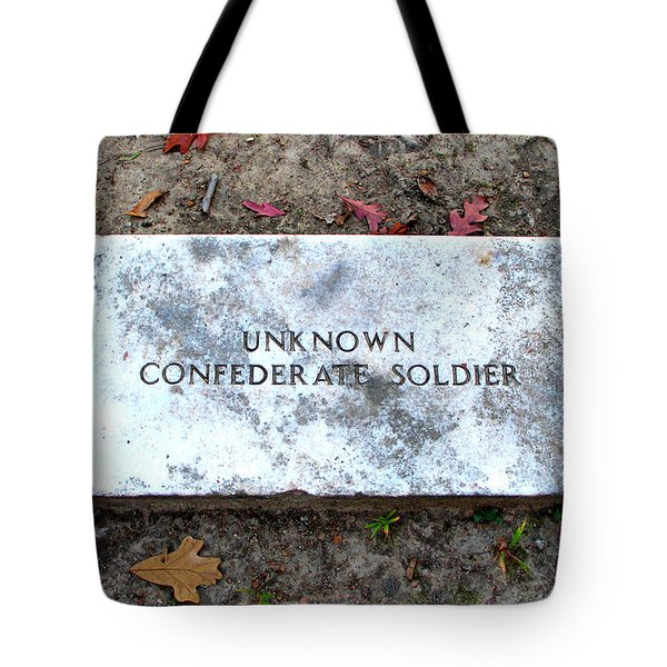 Unknown Confederate Soldier Tote Bag by Renee Trenholm