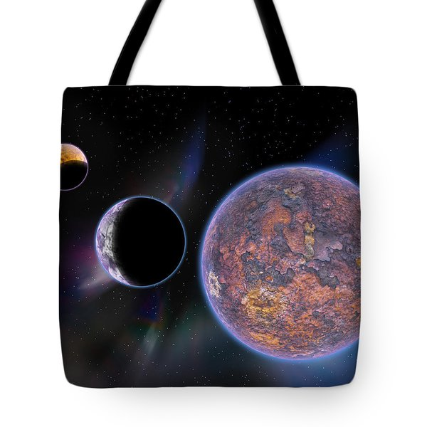 Unknown Worlds Tote Bag by Barry Jones