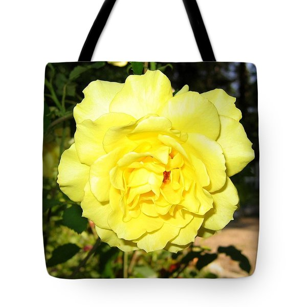 Upbeat Yellow Rose Tote Bag by Will Borden