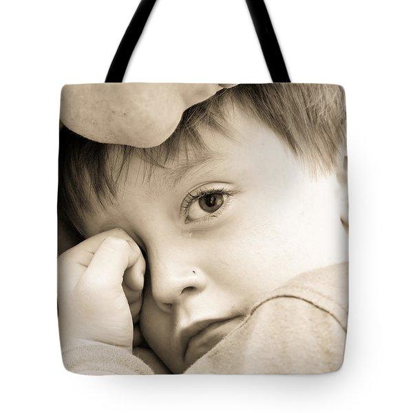 Upset Child Tote Bag by Tom Gowanlock