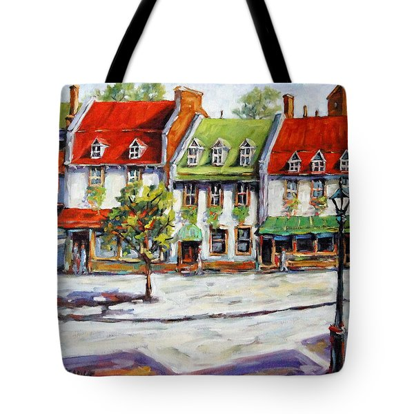 Urban Montreal Street By Prankearts Tote Bag by Richard T Pranke