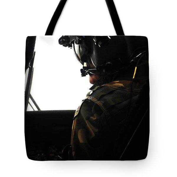 U.s. Army Officer Speaks To A Pilot Tote Bag by Stocktrek Images