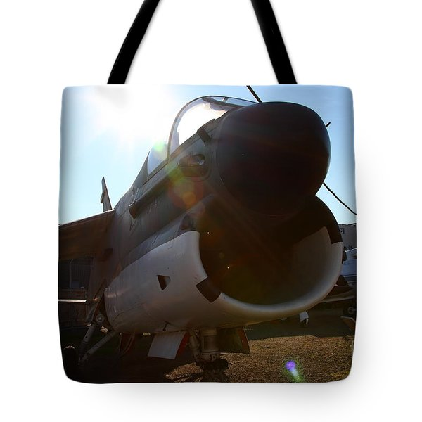 Us Fighter Jet Plane . 7d11296 Tote Bag by Wingsdomain Art and Photography