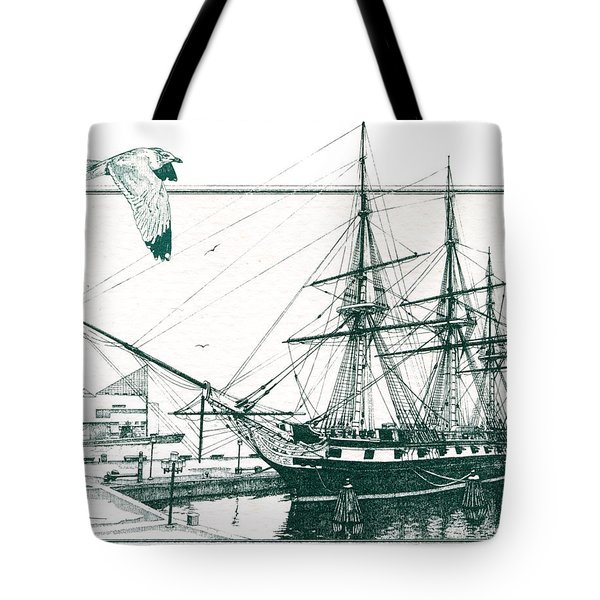 US Frigate Constellation Tote Bag by John D Benson
