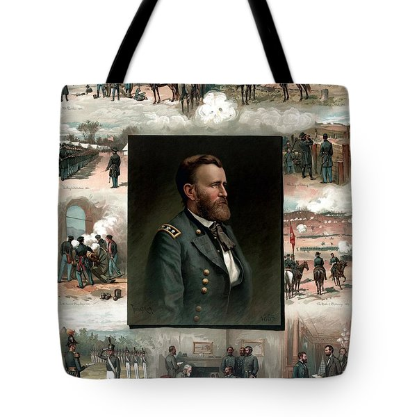 US Grant's Career In Pictures Tote Bag by War Is Hell Store