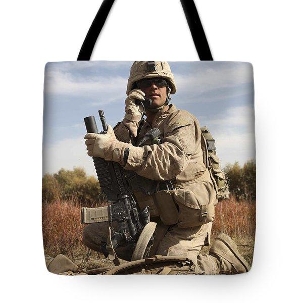U.s. Marine Communicates Tote Bag by Stocktrek Images