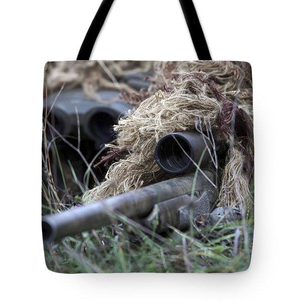 U.s. Marines Practice Stalking Tote Bag by Stocktrek Images