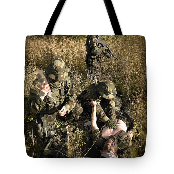 U.s. Navy Seals Give First Aid Tote Bag by Tom Weber