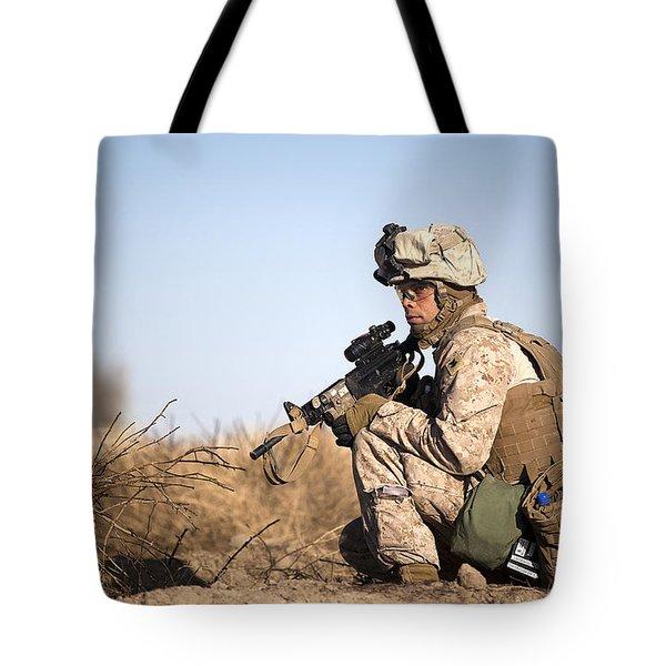 U.s. Navy Soldier Participates Tote Bag by Stocktrek Images