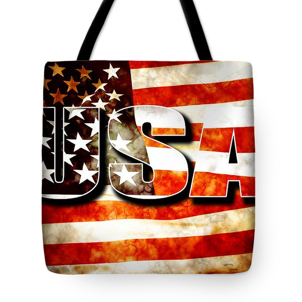 Usa Old Glory Flag Tote Bag by Phill Petrovic