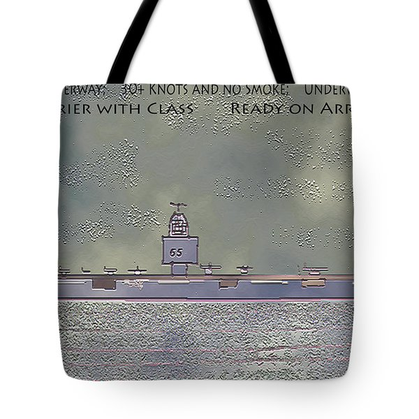 USS ENTERPRISE CVAN 65 Tote Bag by Carl Deaville