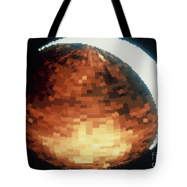 Uv Photo Of Night Airglow On Venus Tote Bag by NASA / Science Source