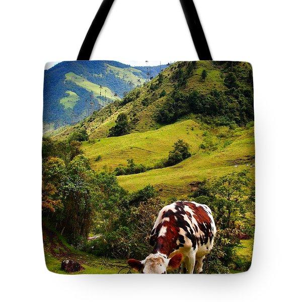 Vaca Tote Bag by Skip Hunt