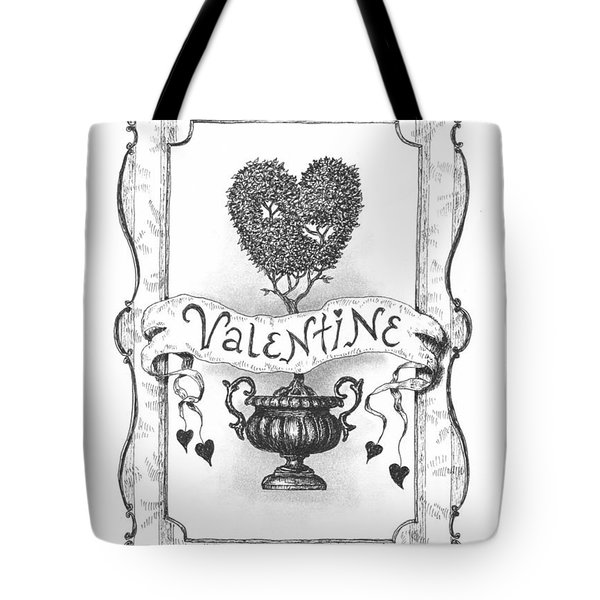 Valentine Tote Bag by Adam Zebediah Joseph