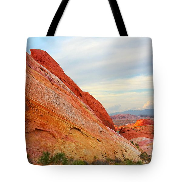Valley Of Fire - A Pristine Beauty Tote Bag by Christine Till